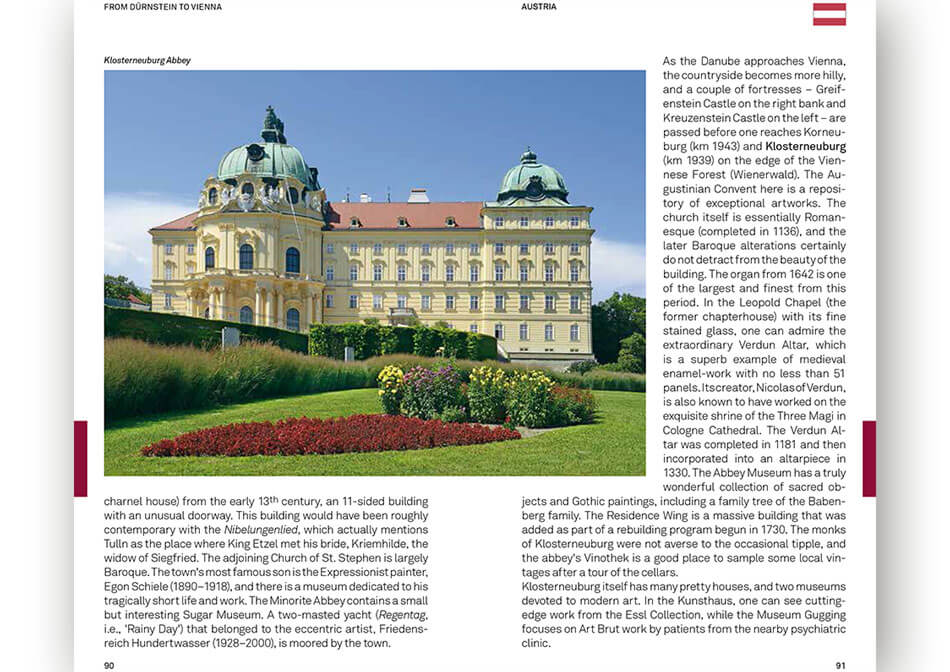 Travel guide Danube inner page
