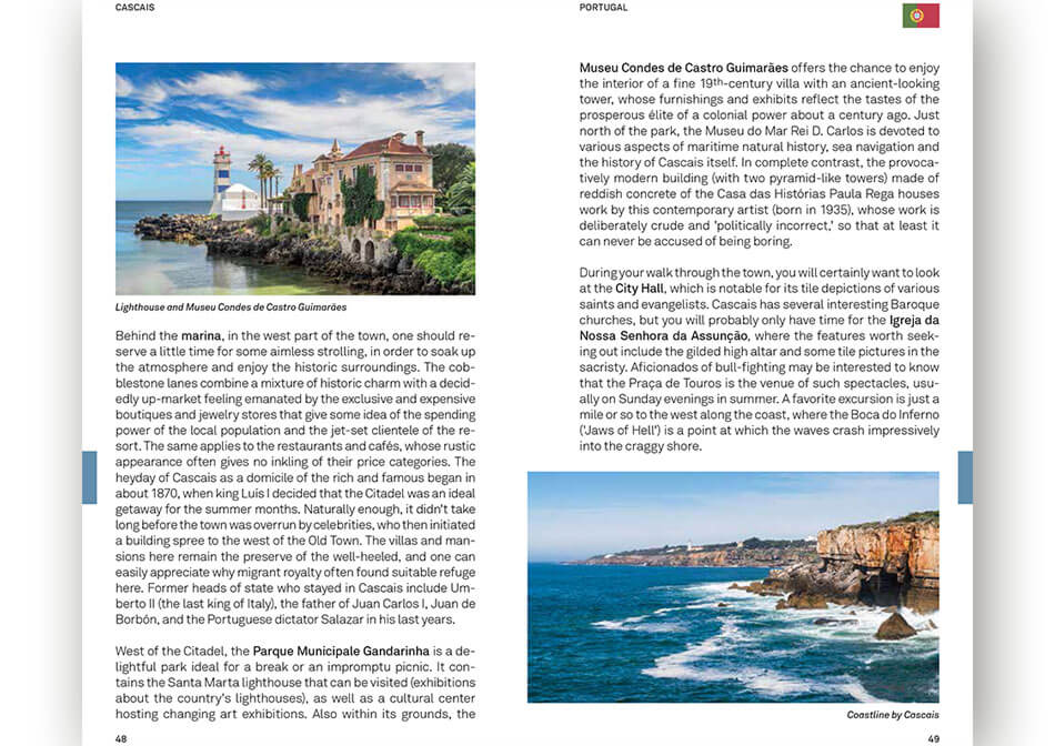 Travel guide Douro inner page