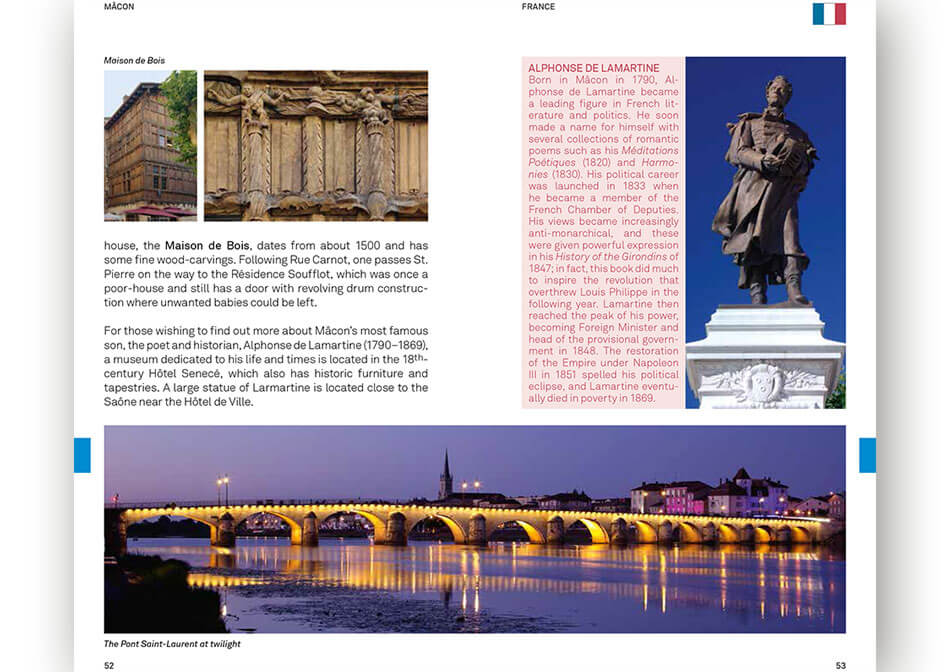 Travel guide Rhone Saone inner page