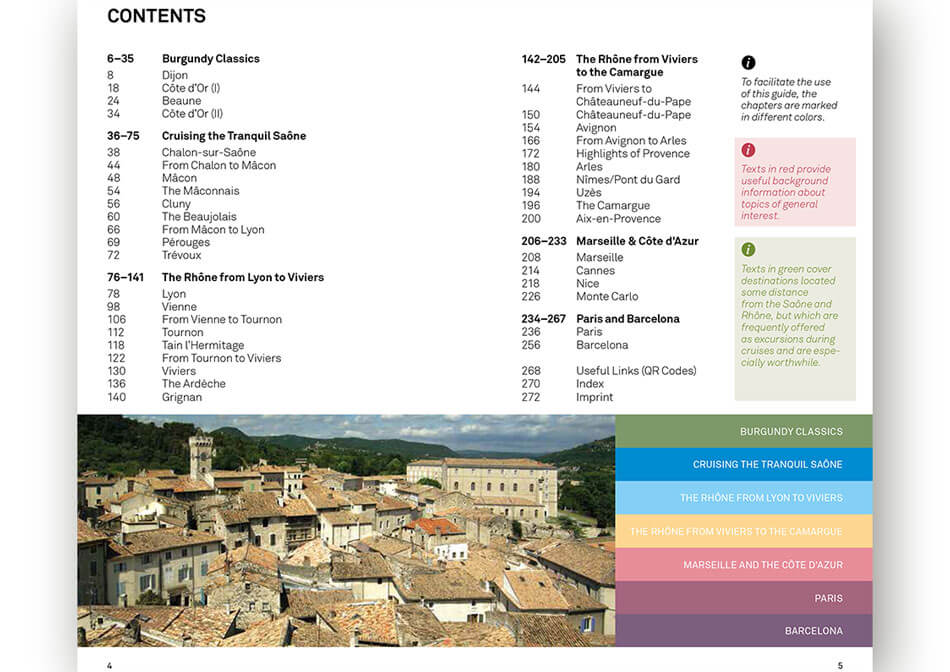 Travel guide Rhone Saone inner page 2