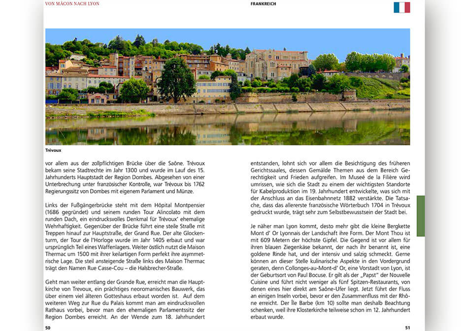 Travel guide Rhone Saone inner page 3
