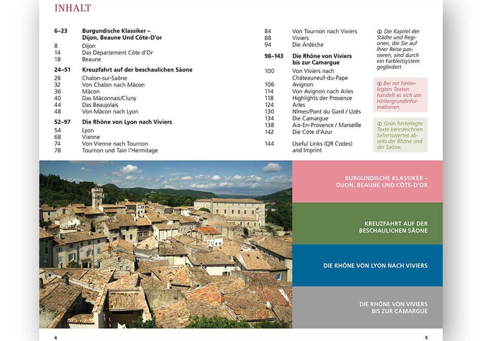 Travel guide Rhone Saone inner page 4