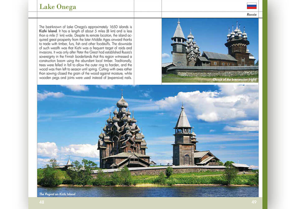 Travel guide Russia inner page